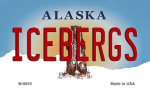 Icebergs Alaska State Background Wholesale Novelty Metal Magnet