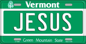 Jesus Vermont Background Wholesale Metal Novelty License Plate