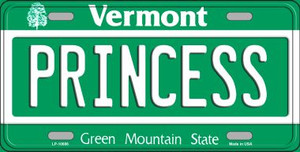 Princess Vermont Background Wholesale Metal Novelty License Plate