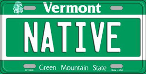 Native Vermont Background Wholesale Metal Novelty License Plate