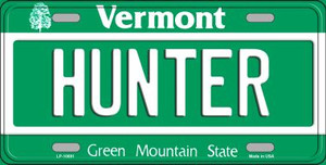Hunter Vermont Background Wholesale Metal Novelty License Plate