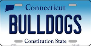 Bulldogs Connecticut Background Wholesale Metal Novelty License Plate