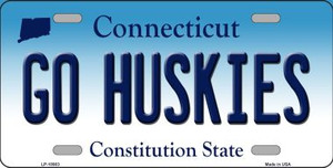Go Huskies Connecticut Background Wholesale Metal Novelty License Plate