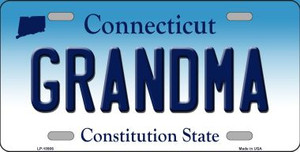 Grandma Connecticut Background Wholesale Metal Novelty License Plate