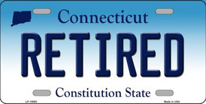 Retired Connecticut Background Wholesale Metal Novelty License Plate