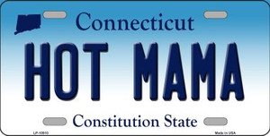 Hot Mama Connecticut Background Wholesale Metal Novelty License Plate