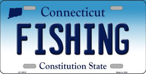 Fishing Connecticut Background Wholesale Metal Novelty License Plate