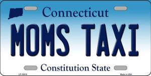 Moms Taxi Connecticut Background Wholesale Metal Novelty License Plate