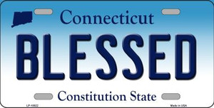 Blessed Connecticut Background Wholesale Metal Novelty License Plate