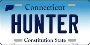 Hunter Connecticut Background Wholesale Metal Novelty License Plate