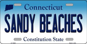 Sandy Beaches Connecticut Background Wholesale Metal Novelty License Plate