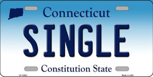 Single Connecticut Background Wholesale Metal Novelty License Plate