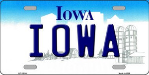 Iowa Background Wholesale Metal Novelty License Plate