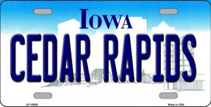 Cedar Rapids Iowa Background Wholesale Metal Novelty License Plate