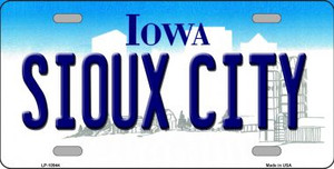 Sioux City Iowa Background Wholesale Metal Novelty License Plate