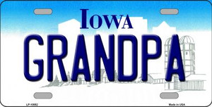 Grandpa Iowa Background Wholesale Metal Novelty License Plate