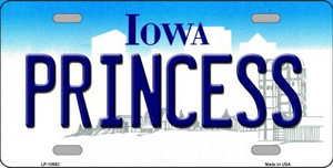 Princess Iowa Background Wholesale Metal Novelty License Plate