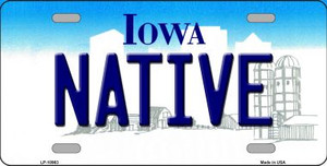 Native Iowa Background Wholesale Metal Novelty License Plate