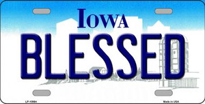 Blessed Iowa Background Wholesale Metal Novelty License Plate