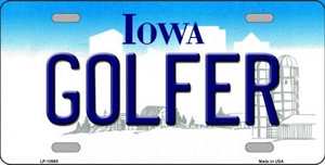 Golfer Iowa Background Wholesale Metal Novelty License Plate