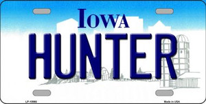 Hunter Iowa Background Wholesale Metal Novelty License Plate