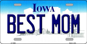 Best Mom Iowa Background Wholesale Metal Novelty License Plate