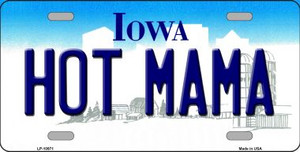 Hot Mama Iowa Background Wholesale Metal Novelty License Plate