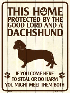 Dachshund Protected Wholesale Metal Novelty Parking Sign