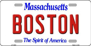 Boston Massachusetts Background Wholesale Metal Novelty License Plate