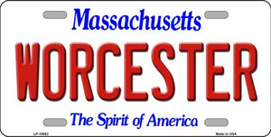 Worcester Massachusetts Background Wholesale Metal Novelty License Plate