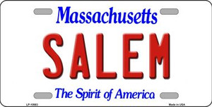 Salem Massachusetts Background Wholesale Metal Novelty License Plate