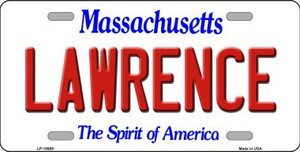 Lawrence Massachusetts Background Wholesale Metal Novelty License Plate