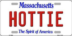 Hottie Massachusetts Background Wholesale Metal Novelty License Plate