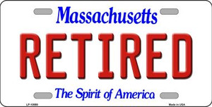 Retired Massachusetts Background Wholesale Metal Novelty License Plate