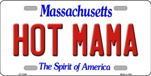 Hot Mama Massachusetts Background Wholesale Metal Novelty License Plate