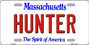 Hunter Massachusetts Background Wholesale Metal Novelty License Plate