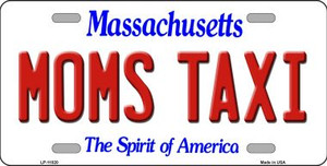 Moms Taxi Massachusetts Background Wholesale Metal Novelty License Plate