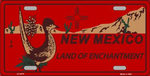 Roadrunner Red New Mexico Wholesale Metal Novelty License Plate