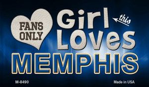 This Girl Loves Her Memphis Wholesale Novelty Metal Magnet