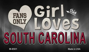 This Girl Loves Her South Carolina Wholesale Novelty Metal Magnet