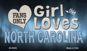 This Girl Loves Her North Carolina Wholesale Novelty Metal Magnet