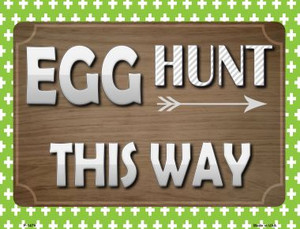 Egg Hunt This Way Wholesale Metal Novelty Parking Sign