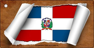 Dominican Republic Flag Scroll Wholesale Novelty Key Chain