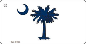 South Carolina State Flag Scroll Wholesale Novelty Key Chain