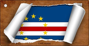 Cape Verde Flag Scroll Wholesale Novelty Key Chain
