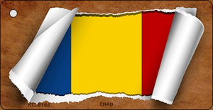 Chad Flag Scroll Wholesale Novelty Key Chain
