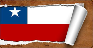 Chile Flag Scroll Wholesale Novelty Key Chain