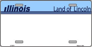 Old Illinois Novelty State Background Blank Wholesale Metal Novelty License Plate LP-2511