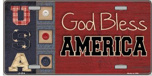 God Bless America Wholesale Metal Novelty License Plate LP-2514