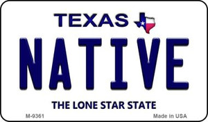 Native Texas Background Wholesale Novelty Metal Magnet